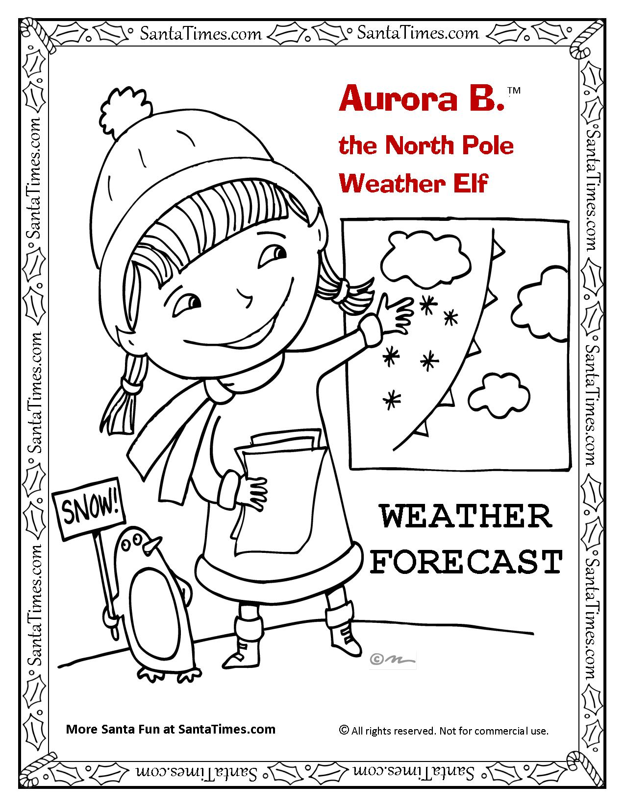 Aurora B. the Weather Elf Christmas weather forecast