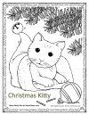 Christmas Kitty coloring page link