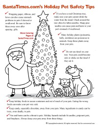 Christmas Pet Safety Tips coloring Page thumb