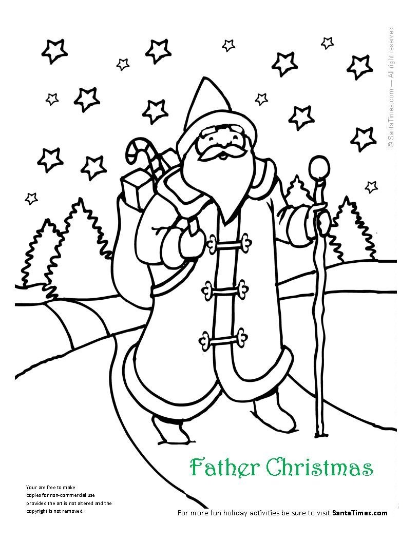 father christmas online coloring pages - photo#4
