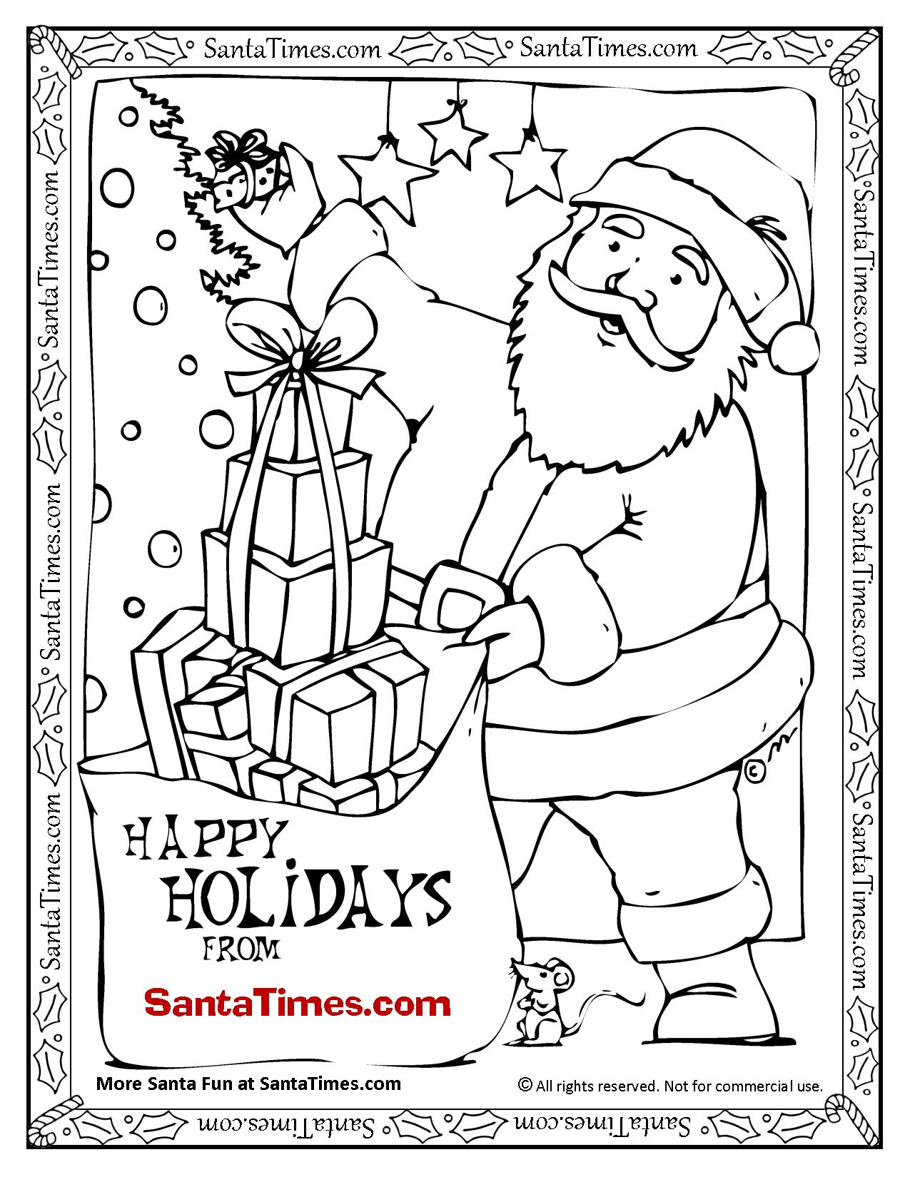 Gingerbread Cookie Man Coloring Page