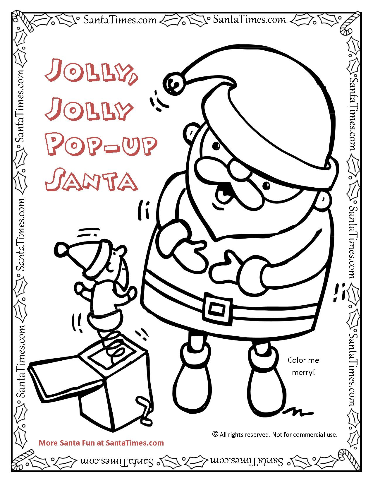 jolly jolly pop up santa