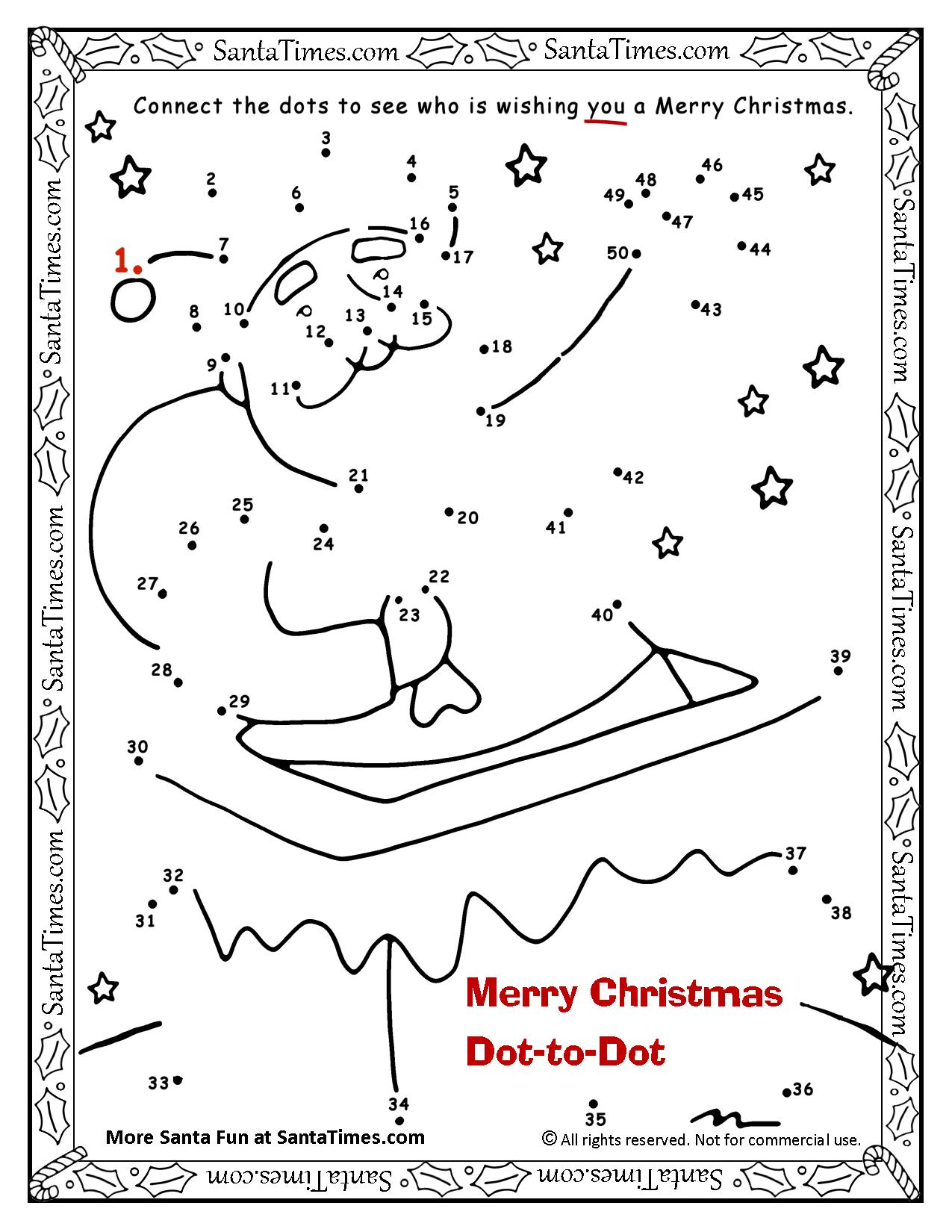 Christmas Dot To Dot.Merry Christmas Dot To Dot
