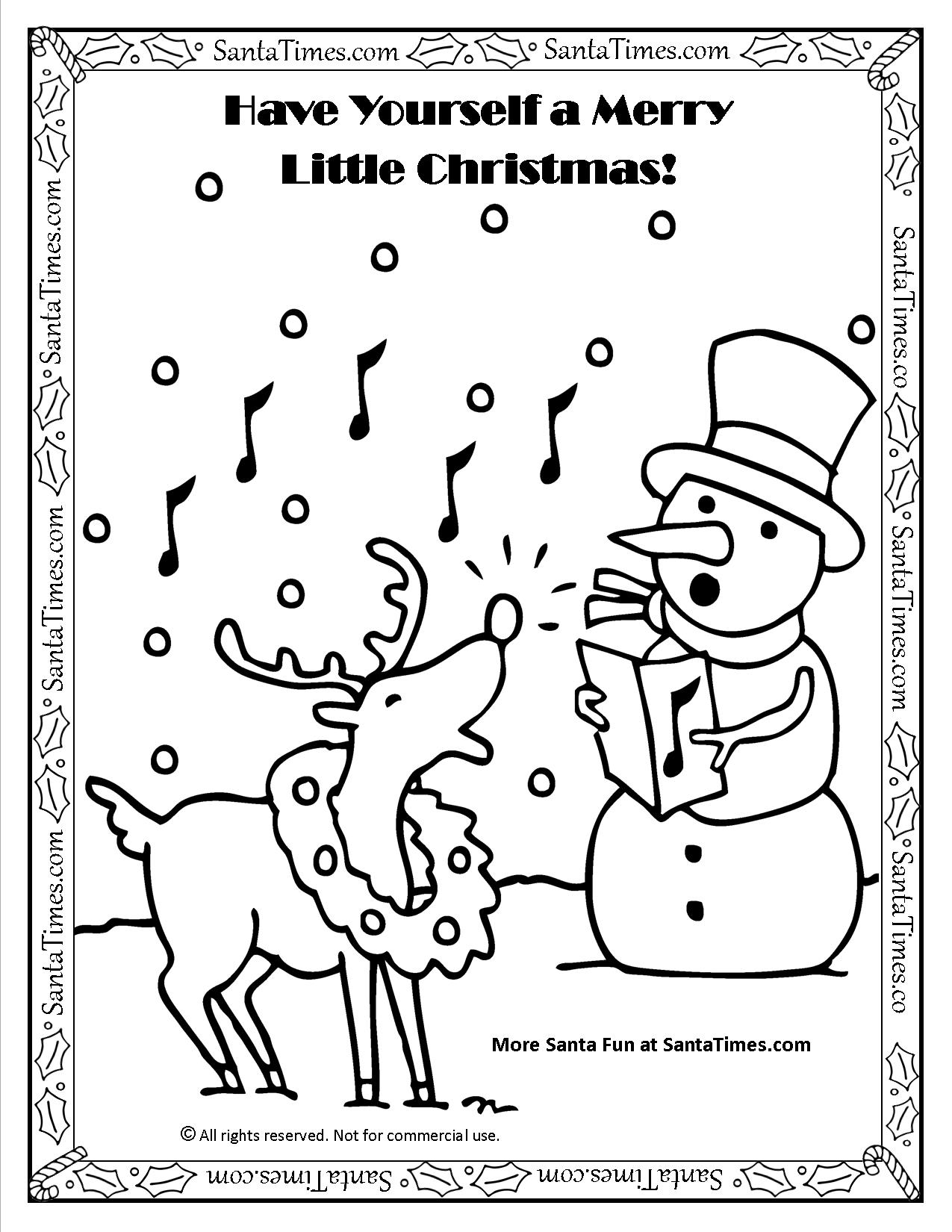 Have Yourself A Merry Little Christmas Coloring Page