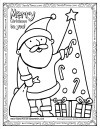 Merry Santa Coloring Page Thumb