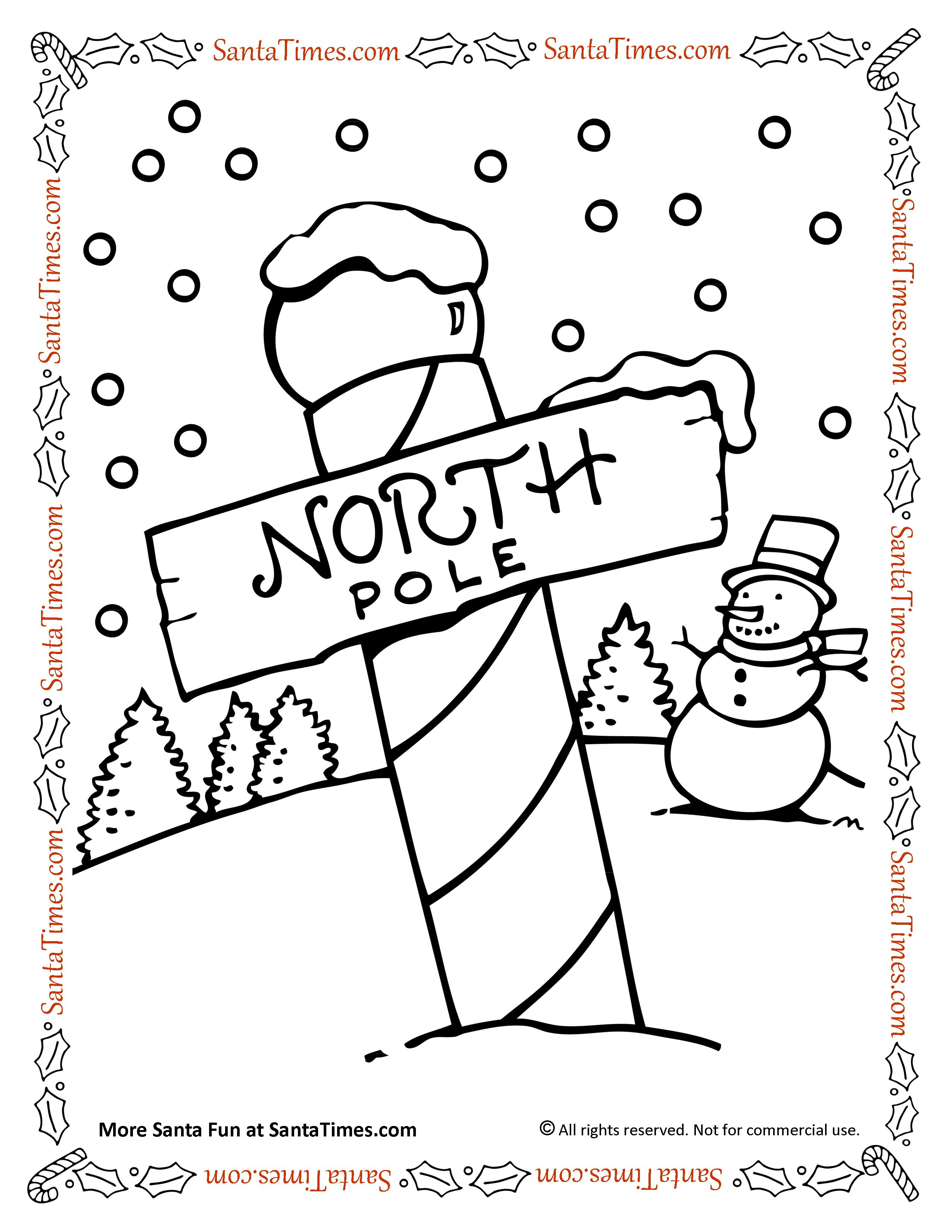 north pole coloring pages North Pole Coloring Page north pole coloring pages