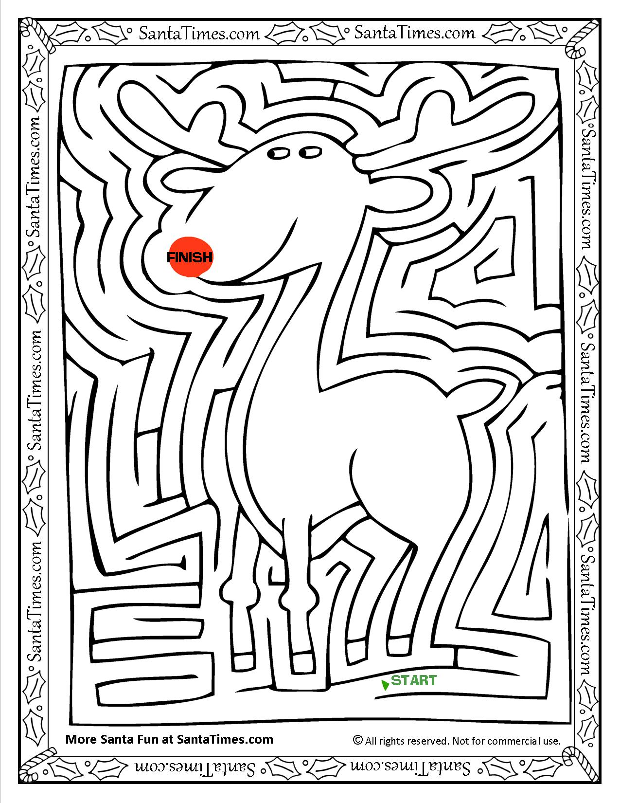 the red nosed reindeer maze