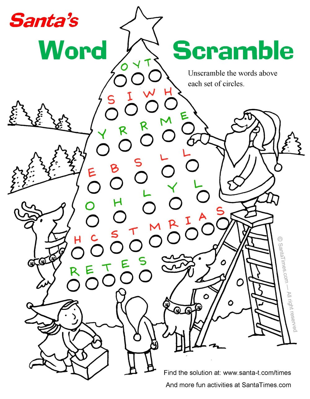 Christmas Word Scramble | quotes.lol-rofl.com