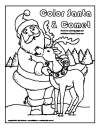 Santa and Comet Coloring page Thumb
