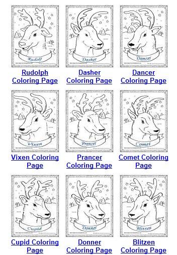 Santa 39 s Reindeer Coloring Pages