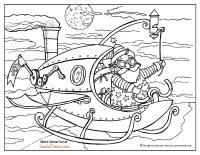 coloring page steampunk santa coloring page thumbnail