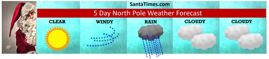 5-day North Pole Weather Forecast from santa times photographic