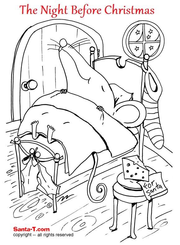 santa mouse coloring pages - photo#11