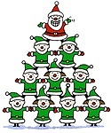 Santa and Elves pyramid